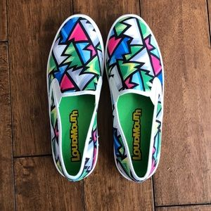 Loudmouth slide on shoes size 8